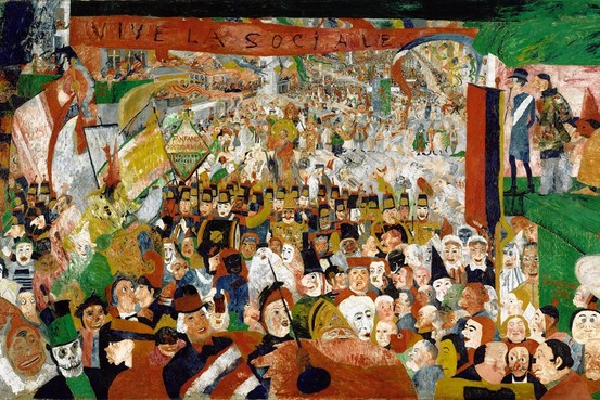 "A Macabre Kingdom of Masks – James Ensor's ""Christ's Entry Into Brussels in 1889"""