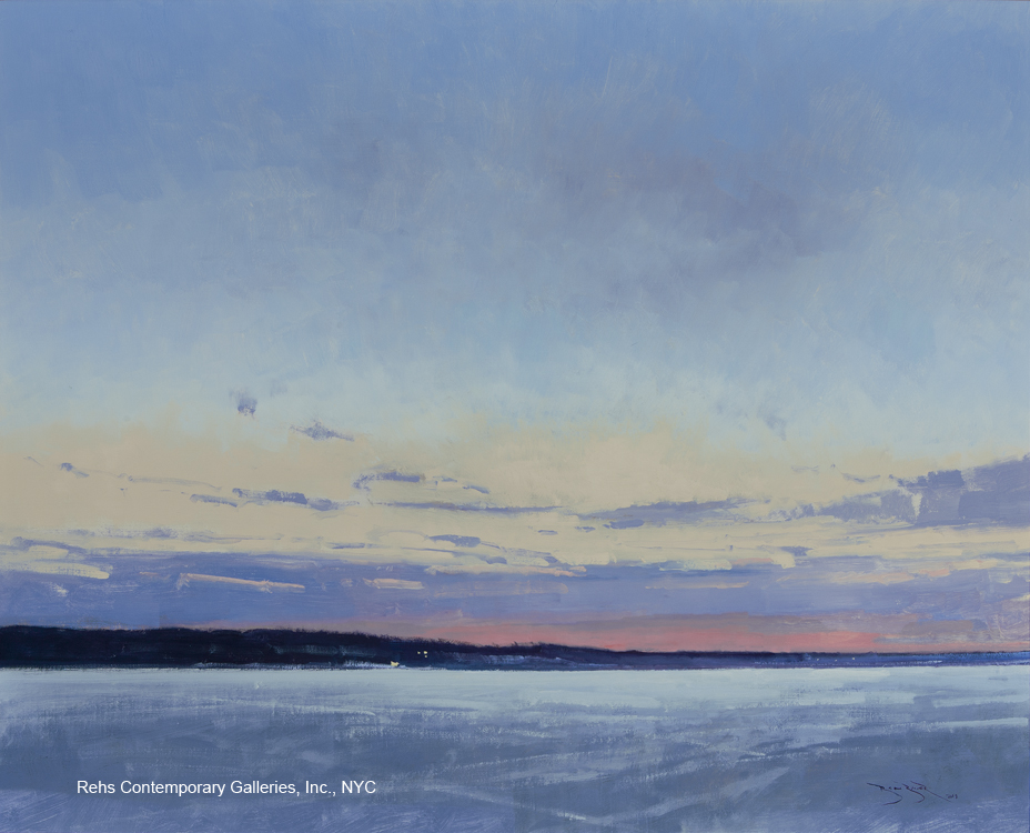 """Painting of the Day (AVAILABLE) – Ben Bauer's """"White Bear Lake at Dawn"""""""