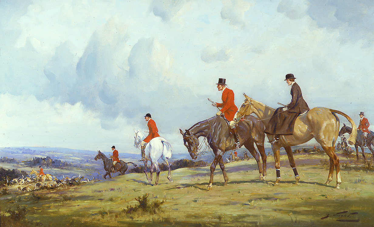 "Painting of the Day (SOLD archives) – George Wright's ""Going to the Meet"""