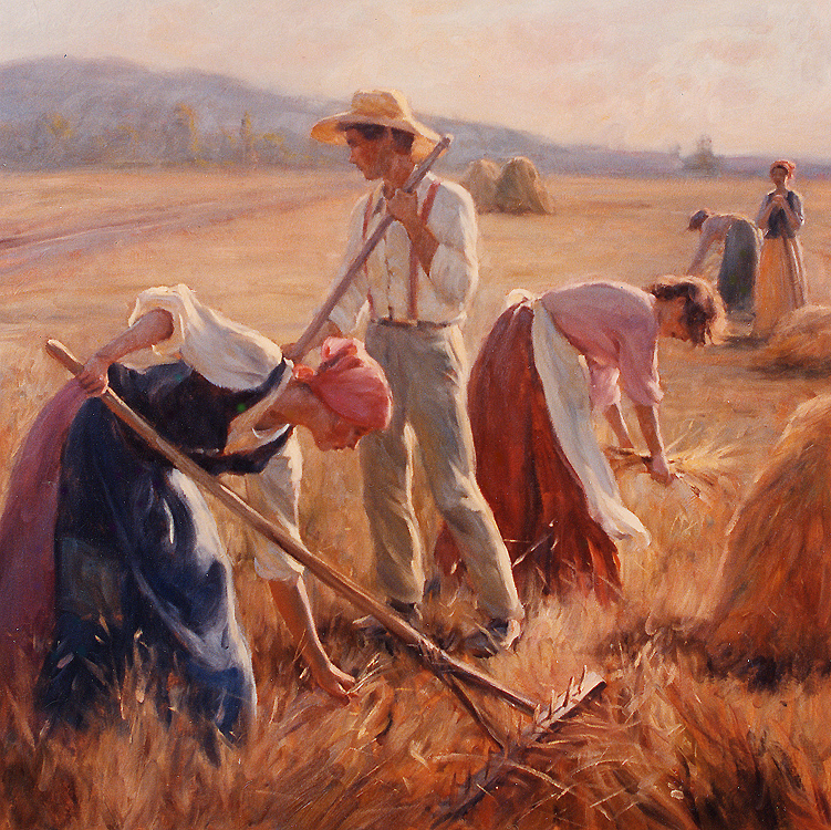 "Painting of the Day (SOLD archives) Gregory Frank Harris's ""A Bountiful Harvest"""