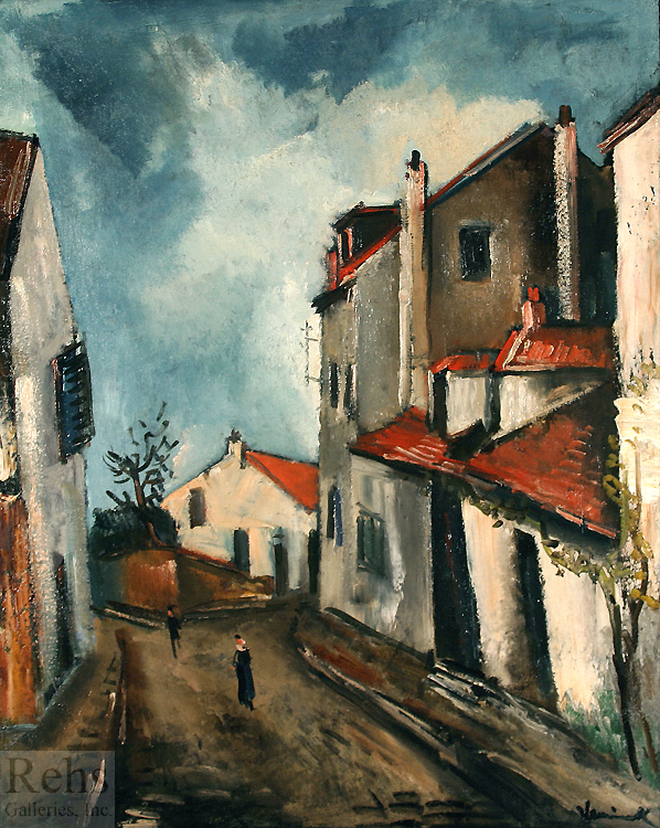 "Painting of the Day (SOLD archives) – Maurice de Vlaminck's ""Rue de Village"""