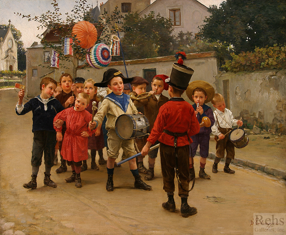 """Painting of the Day (SOLD archives) – Charles B. d'Entraygues's """"The Parade"""""""