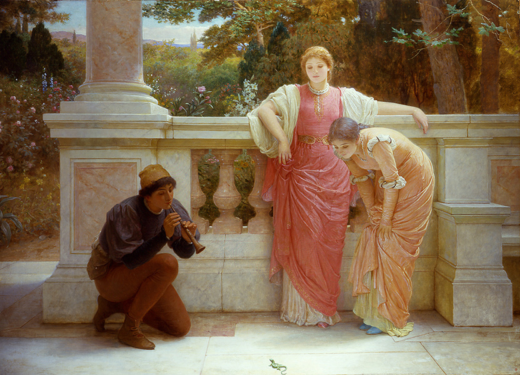 "Painting of the Day (SOLD archives) – Charles Perugini's ""The Green Lizard"""