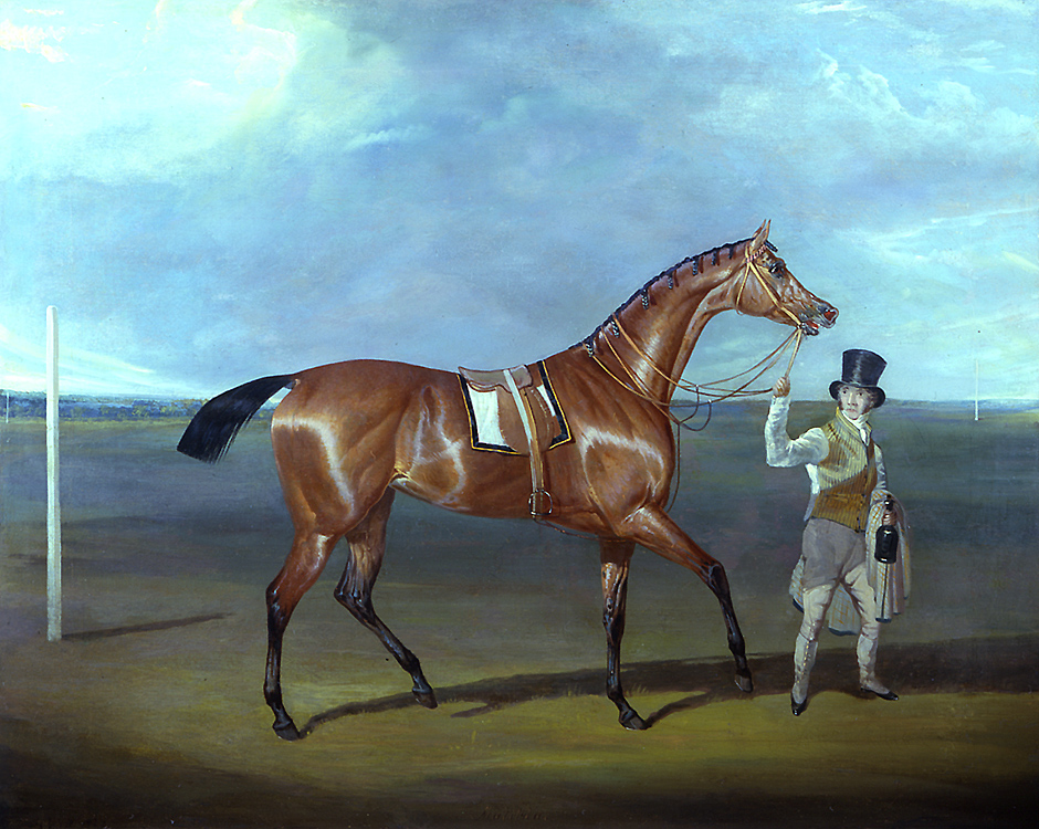 """Painting of the Day (SOLD archives) – David Dalby's """"Portrait of Matilda, Winner of the St. Leger, 1827"""""""