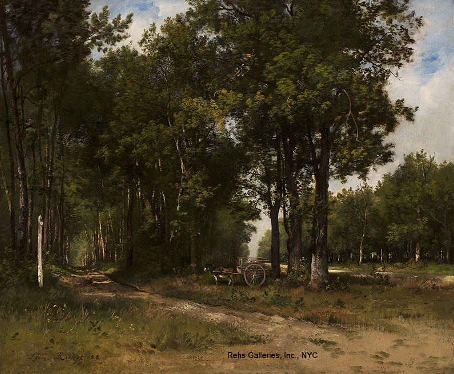 "Painting of the Day (AVAILABLE) – Leon Richet's ""A Quiet Afternoon, Fontainebleau"""