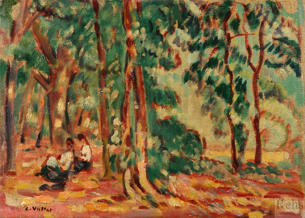 "Painting of the Day (SOLD archives) – Louis Valtat's ""Sous-bois & Personnages"""