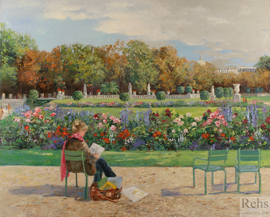 "Painting of the Day (AVAILABLE) Sally Swatland's ""Luxembourg Gardens"""