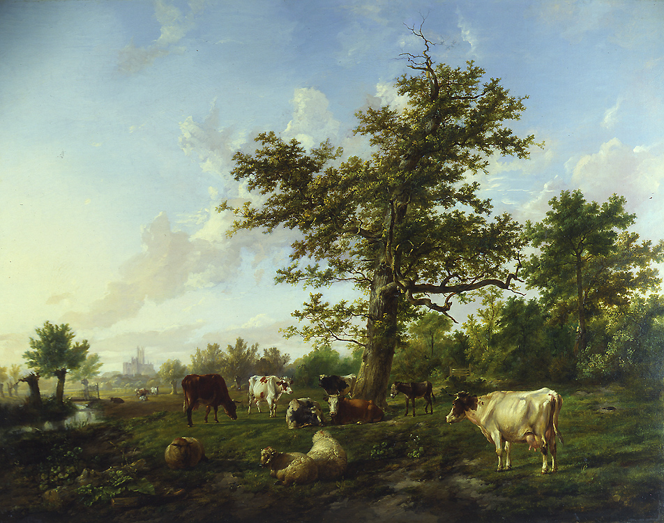 "Painting of the Day (SOLD archives) – Thomas Sidney Cooper's ""Pastoral Landscape"""