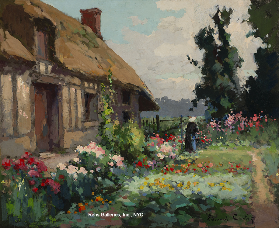 Paintng of the day sold archives edouard cortes s for Solde chalet de jardin