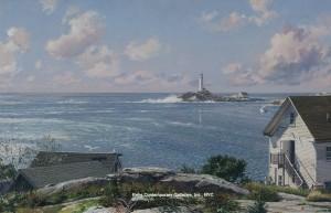 JOHN STOBART</br>Isles of Shoals, White Island Light</br>$85,000