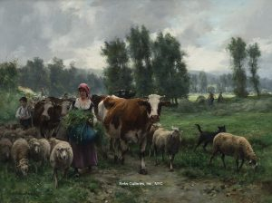 "Julien Dupre ""Returning From The Pasture"""