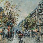Antoine Blanchard - Les Grands Boulevards, et Theatre du Vaudeville