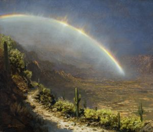 KEN SALAZ</br>Rainbow in the Desert - Catalina Mountains near Tucson</br>$2,200
