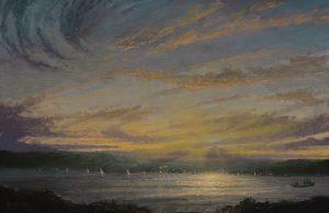 Ken Salaz</br>Sunset over Palisades, 6.23.16</br>$1,250