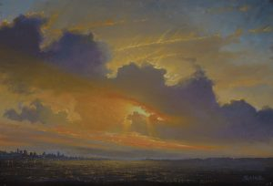 Ken Salaz</br>Sunset over Hudson - 9.8.16</br>$1,600