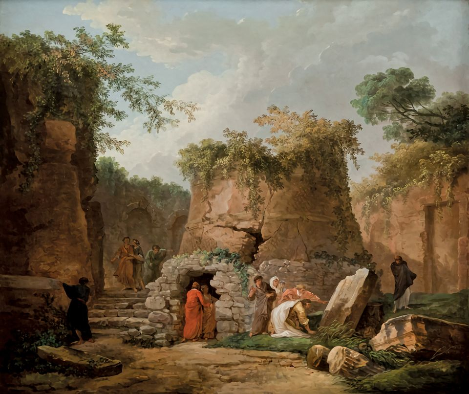 Leaving the La Salle: Hubert Robert's The Tomb of Virgil at Posilipo, near Naples (1784). La Salle University Art Museum