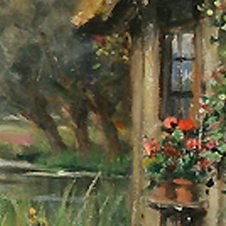 louis_aston_knight_b1337_cottage_by_the_river_launay_frank