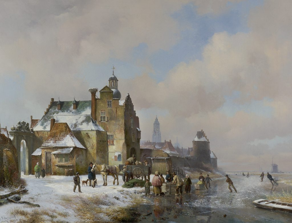 hendrik van_de_sade_bakhuyzen_e1269_skaters_on_a_frozen_river
