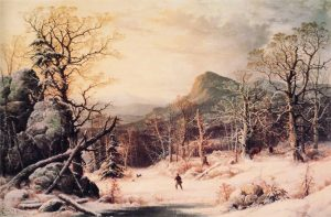 image-George_Henry_Durrie_-_Hunter_in_Winter_Wood