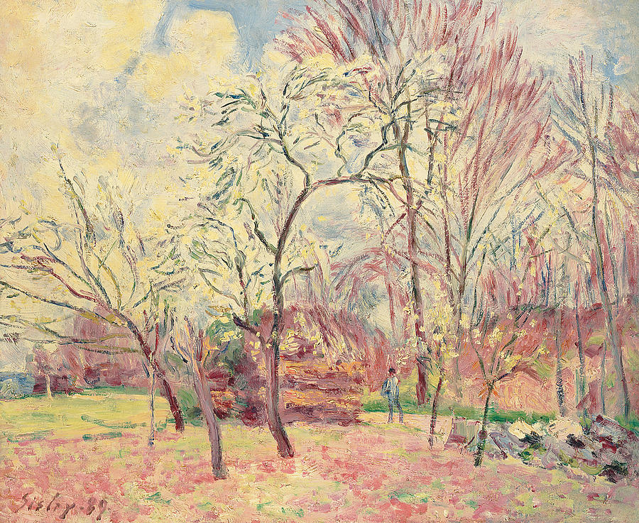 first-day-of-spring-in-moret-1889-alfred-sisley