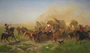 image-Indians_Attacking_a_Wagon_Train_by_Emanuel_Leutze_1863
