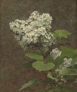Fantin-latour white lilacs