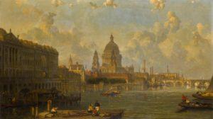 "David Roberts ""View From Waterloo Bridge..."""