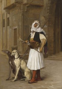 gerome - arnaut and two whippets