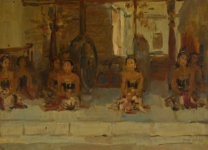 "Isaac Israels ""Seated Javanese Dancers"""