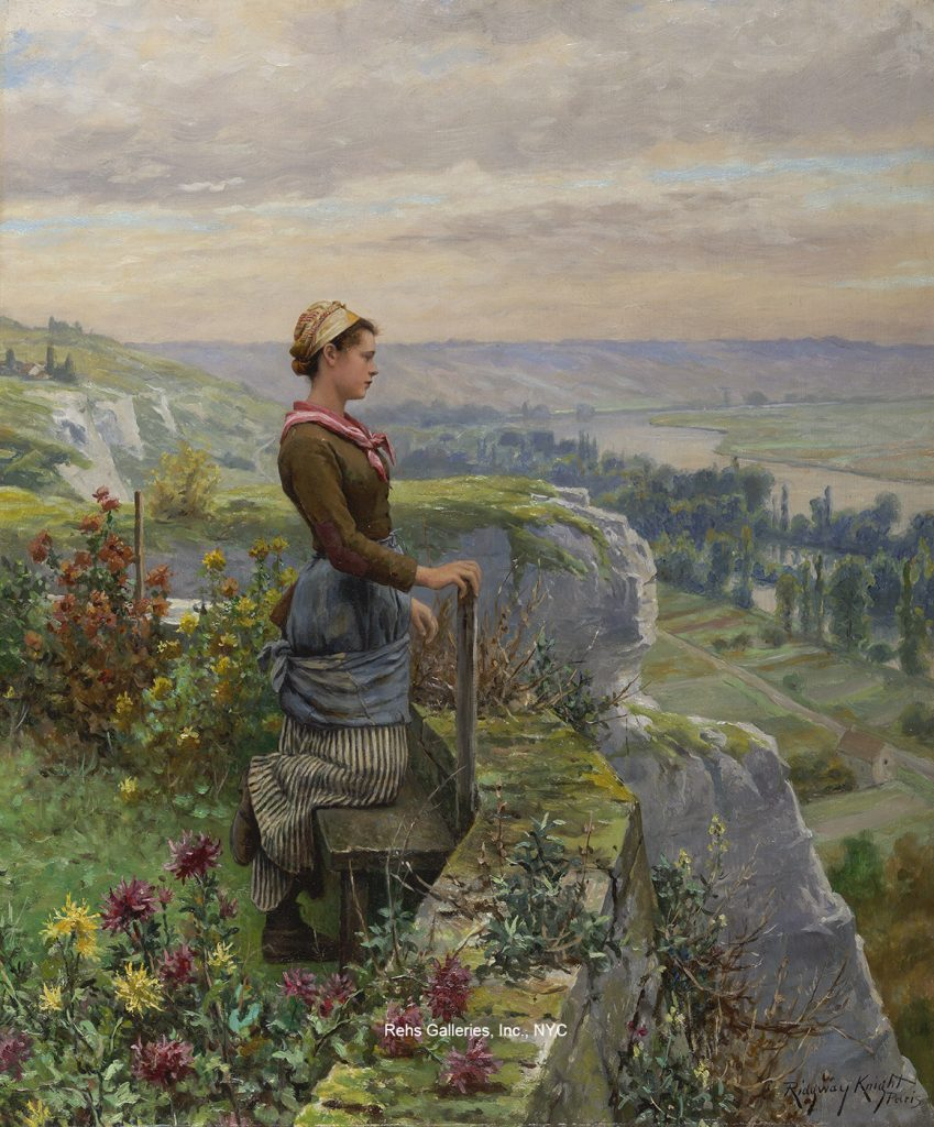 daniel ridgway knight e1276 on theterrace rolleboise wm