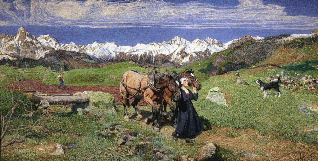 segantini spring in the alps