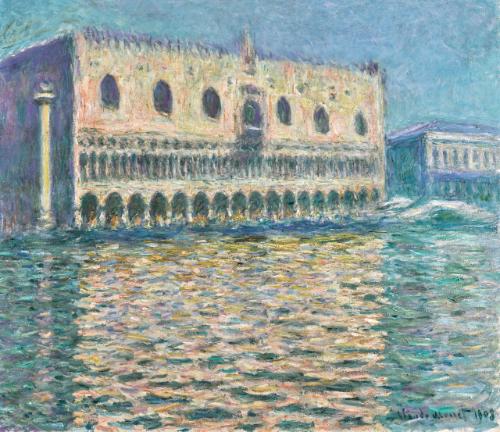 Claude Monet's Venice scene,Le Palais Ducal