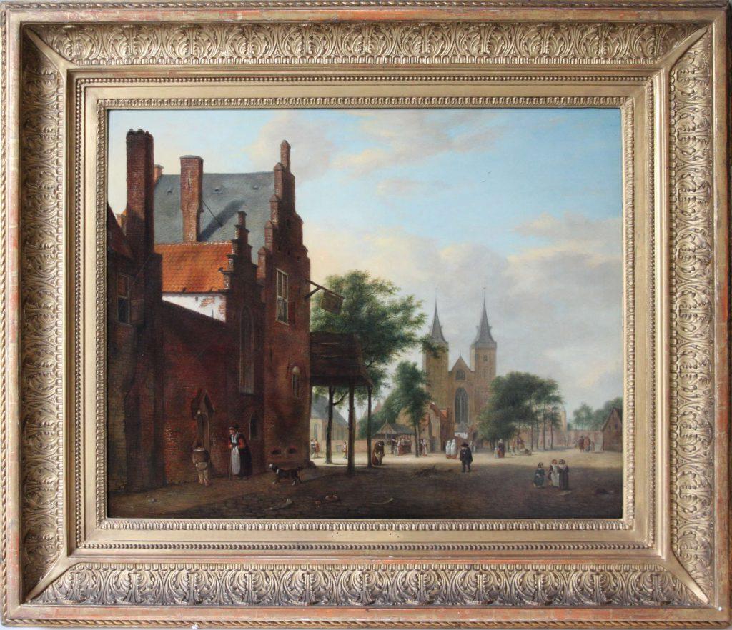 View of a Dutch square Jan van der Heyden 1637-1712