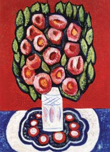 Maine Flowers or Roses from Hispania (1936-37) by Marsden Hartley