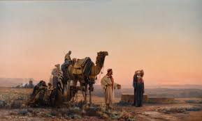 Auguste Veillon's Halt in the Desert