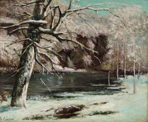 Gustave Courbet's Le chasseur d'eau