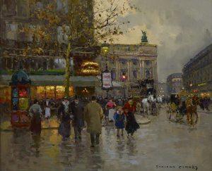 """Edouard Cortes """"Cafe de la Paix"""""""