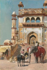 Edward L. Weeks' Before the Great Jami Masjid Mosque, Mathura, India