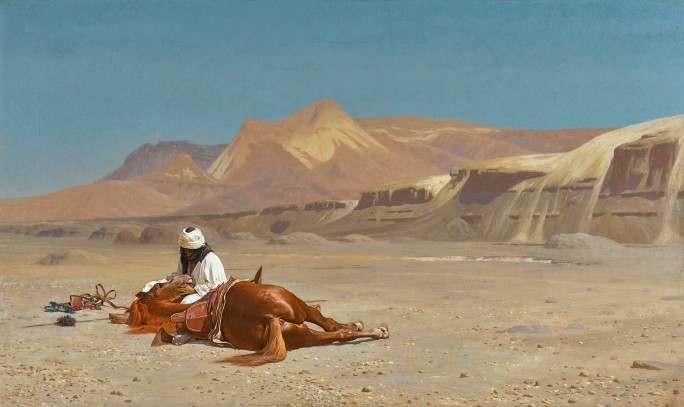 Jean-Leon Gérôme's Rider and His Steed in the Desert