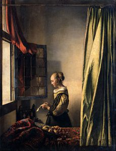 Vermeer's Girl Reading a Letter by an Open Window