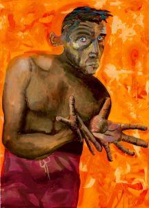 Albert Oehlen's Self Portrait with Empty Hands