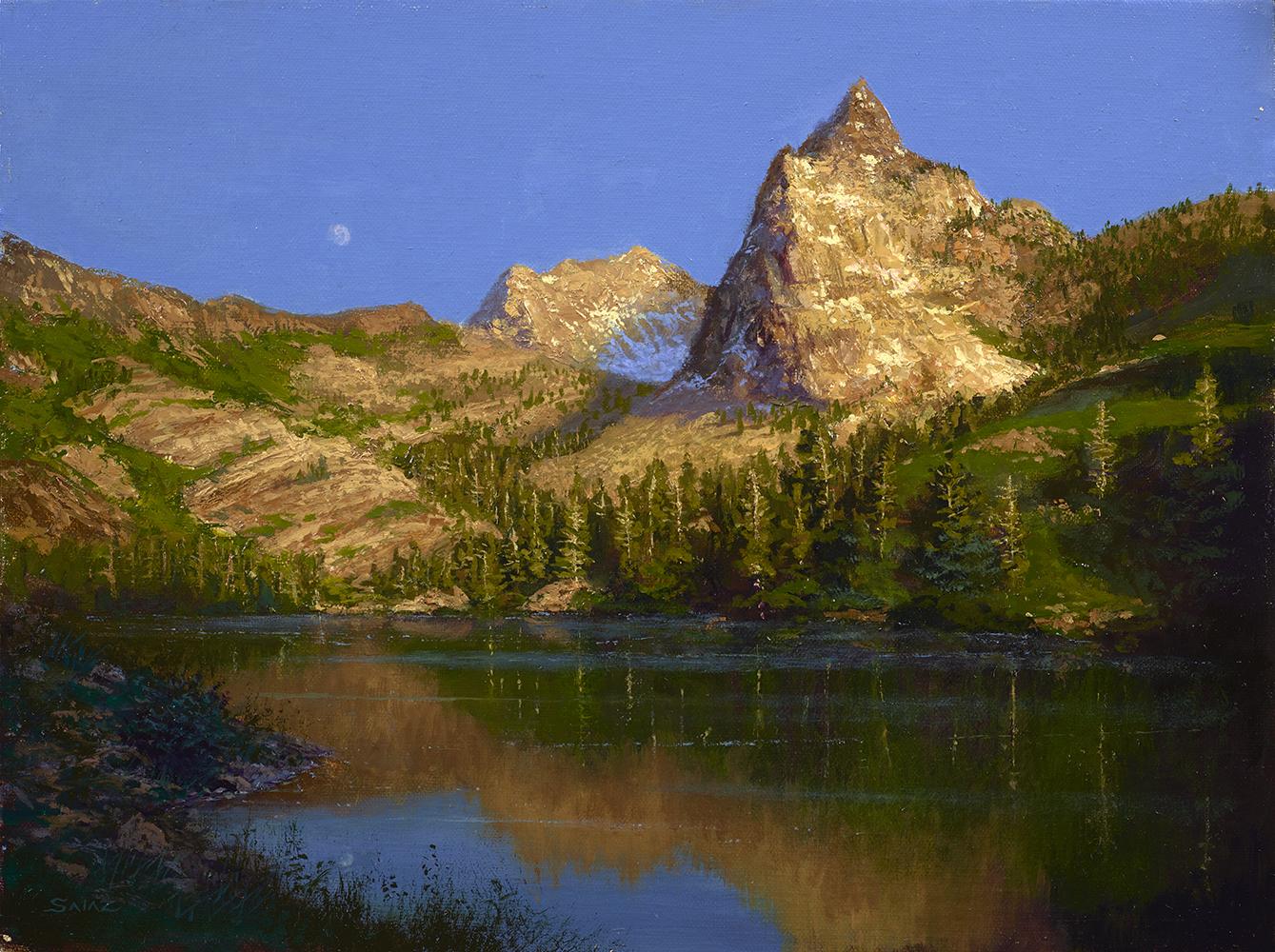 Moonrise over Sundial Peak, Utah
