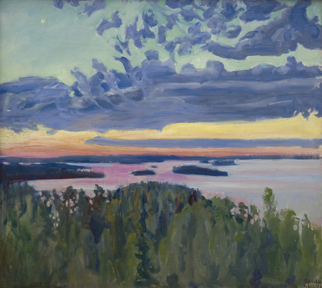 Akseli Gallen-Kallela's View over a Lake at Sunset