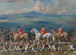 Alfred Munnings's The Bramham Moor Hounds at Weeton Whin