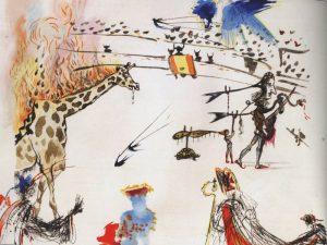 Burning Giraffe - Stolen from Dennis Rae Fine Art