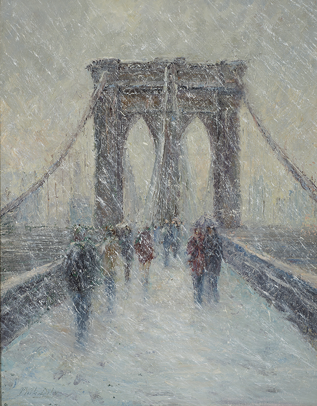 Mark Daly - Brooklyn Bridge in Snow