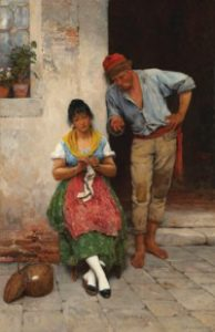 Eugen de Blaas The Courtship