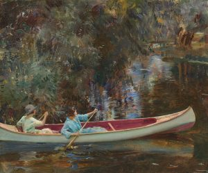 Sir Alfred Munnings's The White Canoe