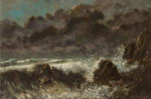 Courbet's La mer Orageuse