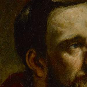 Gustave Courbet's Portrait présume de Tony Marlet